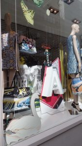Matches Mary Katrantzou fashion window display London bespoke prop manufacturer visual merchandising