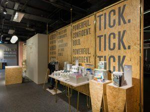 Selfridges Psycle instore display install London bespoke furniture prop making bespoke prop manufacturer