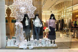 Miss Sixty christmas 2017 window display visual merchandising bespoke props