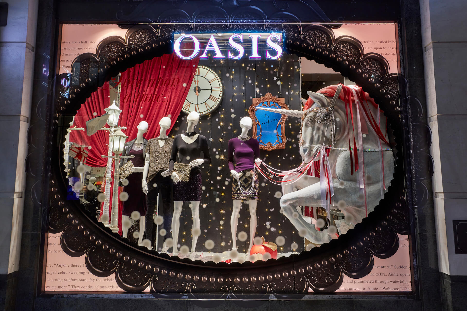Oasis, Christmas 2017 – Window Display