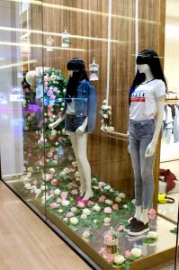 Miss Sixty Westfield window display bespoke props visual merchandising london prop manufacturer