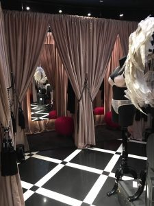 Victoria's secret fitting rooms pop up retail design bespoke manufacturing company visual merchandising