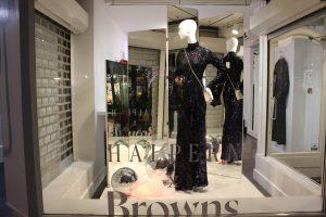 Browns Fashion halpern window display lfw bespoke props lighting design visual merchandising retail design company prop manufacturing company