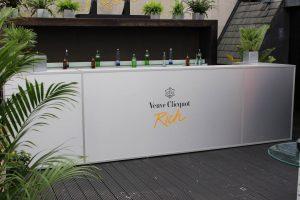 Hotel Creative Veuve Cliquot champagne bar pop up retail design event bespoke props visual merchandising